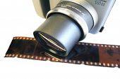 Camera W/ Film Negative