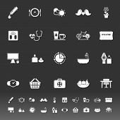 Health Behavior Icons On Gray Background