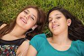 Teens Listening To Music