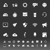 Smart Phone Screen Icons On Gray Background