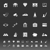 Insurance Related Icons On Gray Background