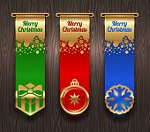 Vertical banners with Christmas greetings and signs