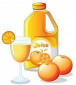Illustration of an orange juice on a white background