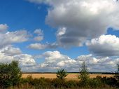 Natural Landscape With Beautiful Sky