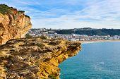 Cliff in Nazare, Portugal