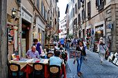 Old Street Of The Ancient Rome City
