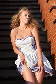 Coquettish Young Beautiful Woman