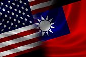 Merged Flag Of Usa And Taiwan