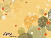 image of 1950s style  - Abstract background with circles and dots  - JPG