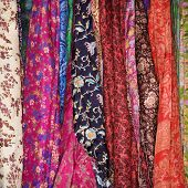Colorful Fabric And Scarves