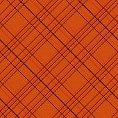 Abstract Seamless Pattern with Plaid Fabric on an orange background.