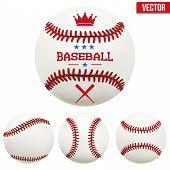 Постер, плакат: Set of baseball leather balls
