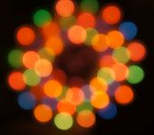 Blurred christmas lights, beautiful bokeh