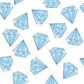 diamond seamless pattern on white