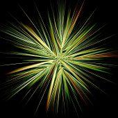 Symmetrical Fractal Abstract Light Rays Effect Neon Art