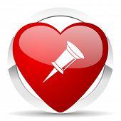 pin valentine icon