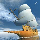 Old ship - 3D render