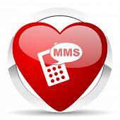 mms valentine icon phone sign
