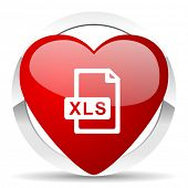 xls file valentine icon