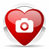 photo camera valentine icon photography sign