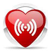 wifi valentine icon wireless network sign