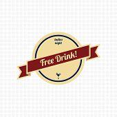 Free Drink Label