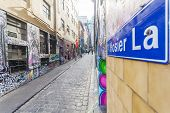 Hosier Lane in Melbourne, Australia