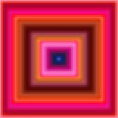 An Hypnotic pink and red blur squares
