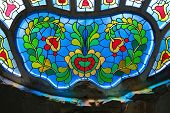stained glass in Synagogue of Subotica, Serbia