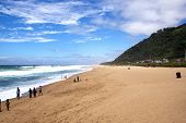 Beachgoers On Brighton Beach, Durban South Africa