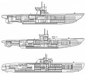 stock photo of u-boat  - 3 kinds of German u - JPG