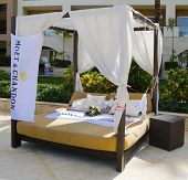 Moet and Chandon champagne  promotional gazebo at Royalton All-inclusive Resort and Casino