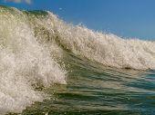 Ocean waves close up