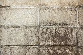 pic of hollow  - Hollow brick wall with grunge texture background close - JPG