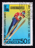 Post Stamp. Winter Olympic Games. Springboard