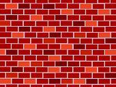 Red brick wall seamless