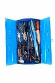 Mechanic Tools From Repairman In Blue Box