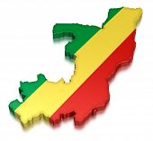 Republic of the Congo (clipping path included)