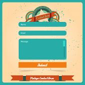 Simple retro vintage contact us form templates.