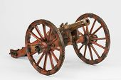 Horse drawn cannon on a carriage