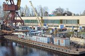 Shipyard On The Neva River