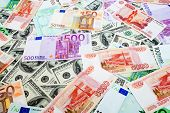 Dollars, Russian roubles and Euro