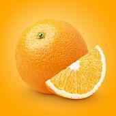 Orange Citrus Fruit With Slice