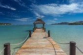 Pier on Fiji Beach