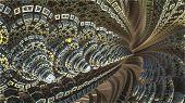 image of mandelbrot  - By computer generated surreal 3d mandelbrot fractal - JPG