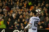 VALENCIA, SPAIN - JANUARY 4: Barragan during Spanish King Cup match between Valencia CF and R.C.D. Espanyol at Mestalla Stadium on January 4, 2015 in Valencia, Spain