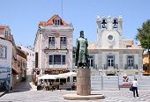 Monument To King Pedro In Cascais