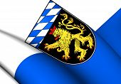 picture of bavaria  - 3D Flag of Upper Bavaria - JPG