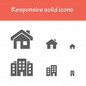 picture of solid  - responsive solid icons isolated flat black color for web tablet  - JPG