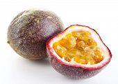 image of passion fruit  - Passion fruit isolated on white - JPG